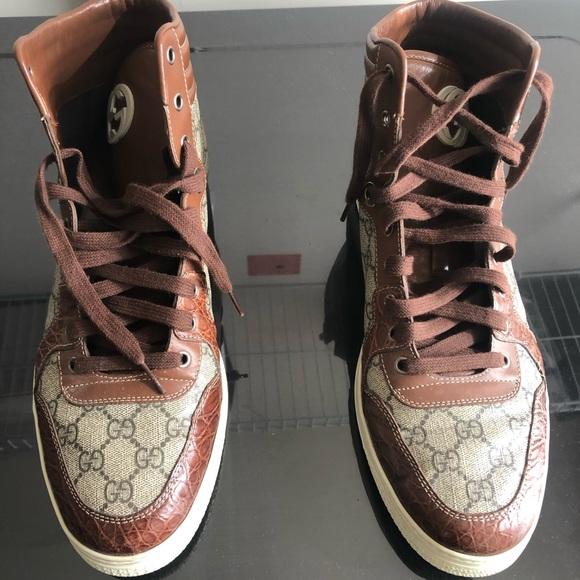 ec25cdd4b628 Gucci Shoes | Mens Authentic Hitops | Poshmark